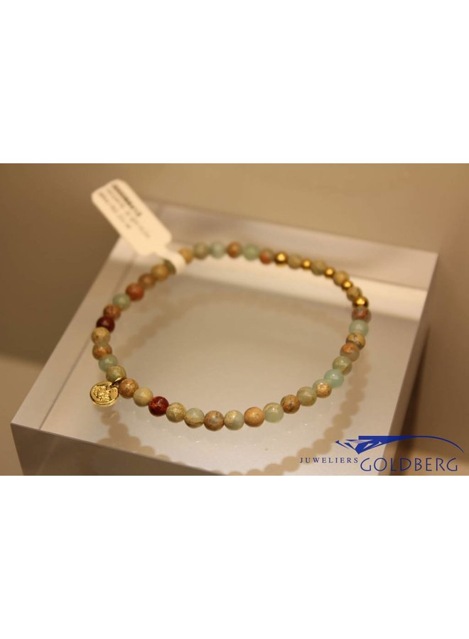 MAS armbandje serpentijn goud model 2 M