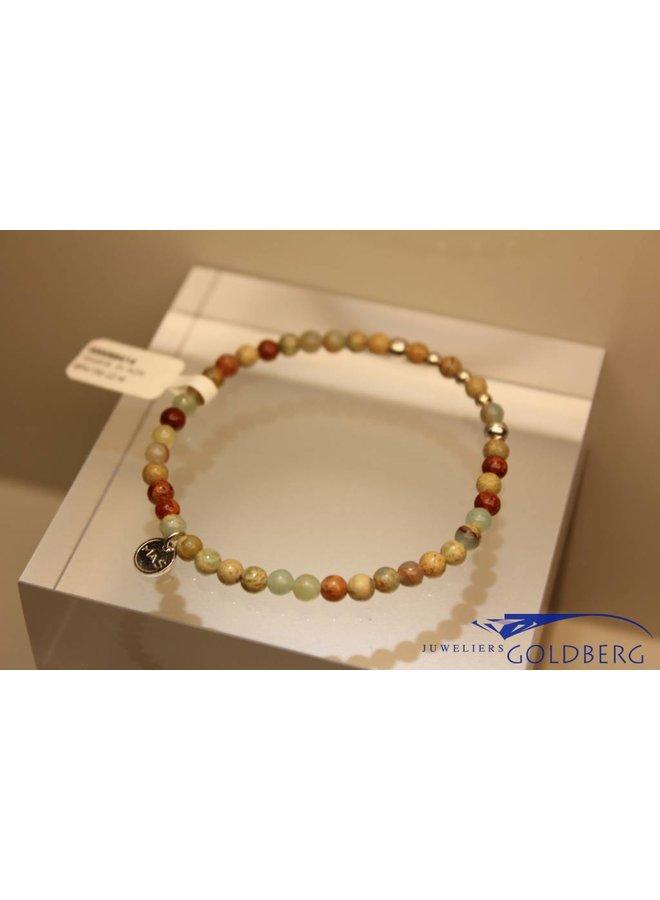 MAS armbandje serpentijn zilver model 2 M