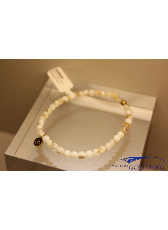 MAS bracelet Mother of Pearl gold model 1 M