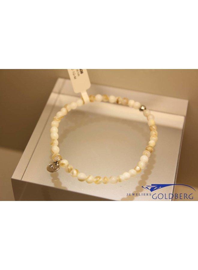 MAS bracelet Mother of Pearl silver model 1 M