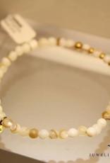 MAS Jewelz MAS bracelet Mother of Pearl gold model 2 M