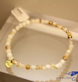 MAS Jewelz MAS bracelet Mother of Pearl gold model 2 M