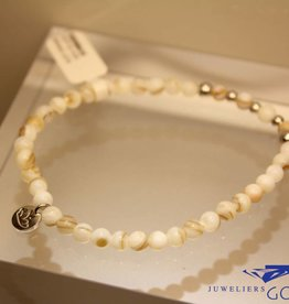 MAS Jewelz MAS bracelet Mother of Pearl silver model 2 M
