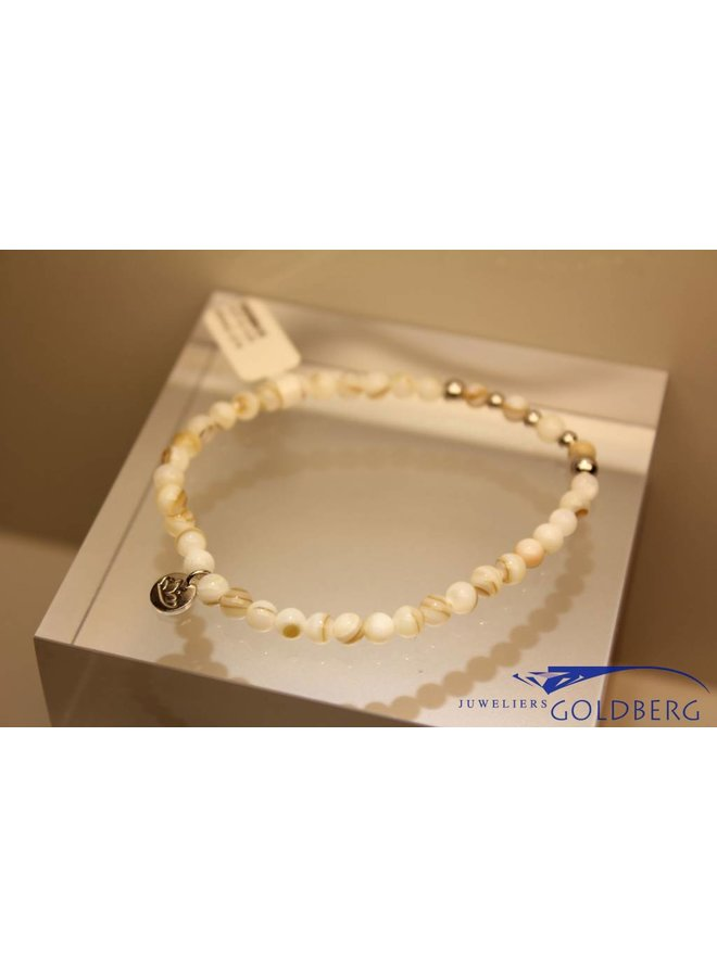 MAS bracelet Mother of Pearl silver model 2 M