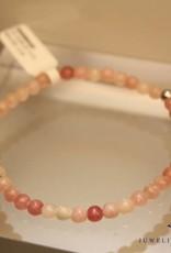 MAS Jewelz MAS armbandje roze opaal zilver model 1 M
