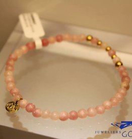 MAS Jewelz MAS bracelet pink opal gold model 2 M