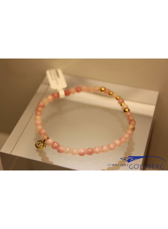 MAS armbandje roze opaal goud model 2 M