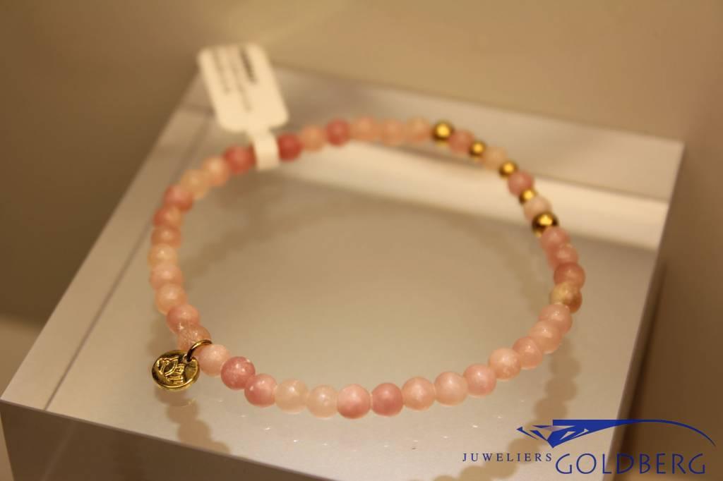 MAS Jewelz MAS armbandje roze opaal goud model 2 M