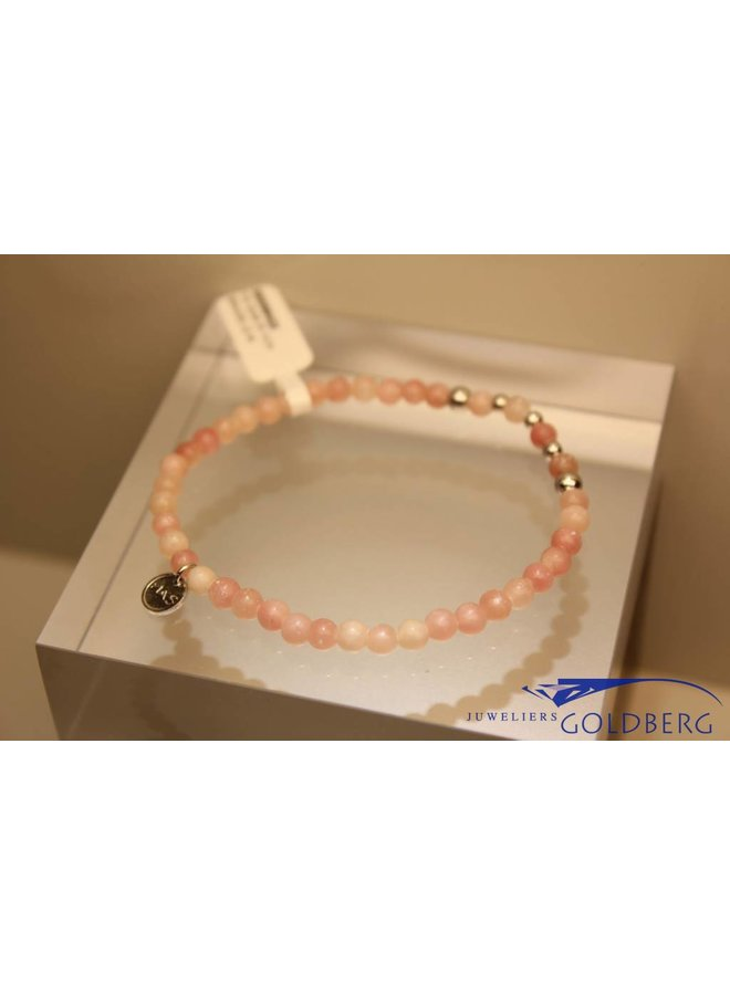 MAS armbandje roze opaal zilver model 2 M