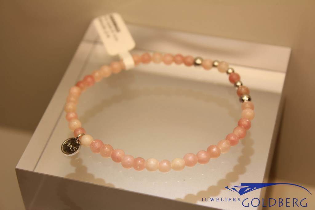 MAS Jewelz MAS armbandje roze opaal zilver model 2 M
