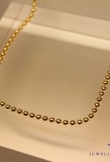 verguld bolletjes collier 2.2mm 50cm