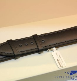 Handmade watch band ECO calfskin black with black stitchings 22/20mm