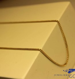 14k gouden gourmet ketting 1,35mm 42cm