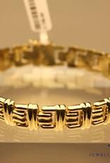 14k fantasie armband 11mm breed
