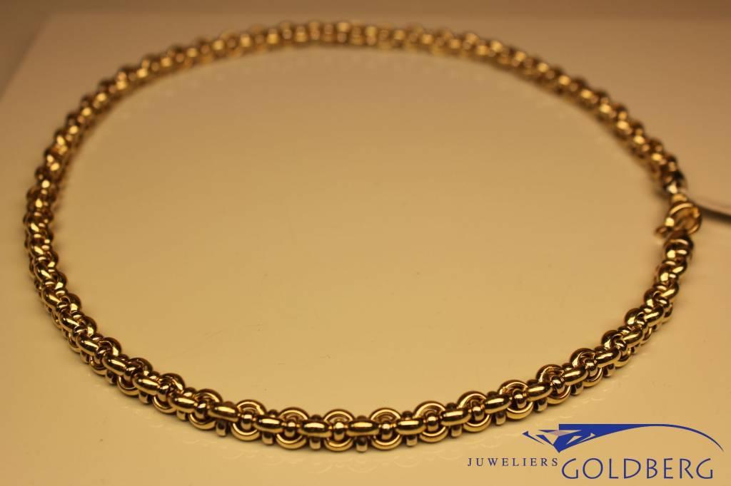 14 carat gold bicolor fantasy necklace 7mm