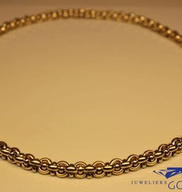 14 carat gold bicolor fantasy necklace 7mm