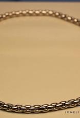 18k witgouden collier met briljant