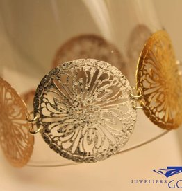 Sanjoya Zilveren driekleurige design armband