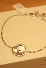 "Sanjoya Silver bracelet with small ""flower"""