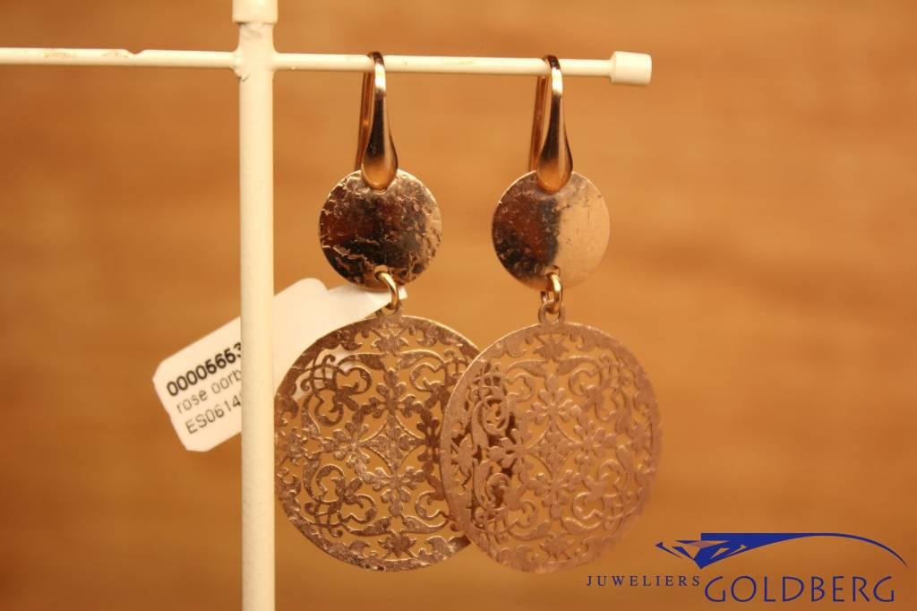 Sanjoya Silver rose hanging earrings