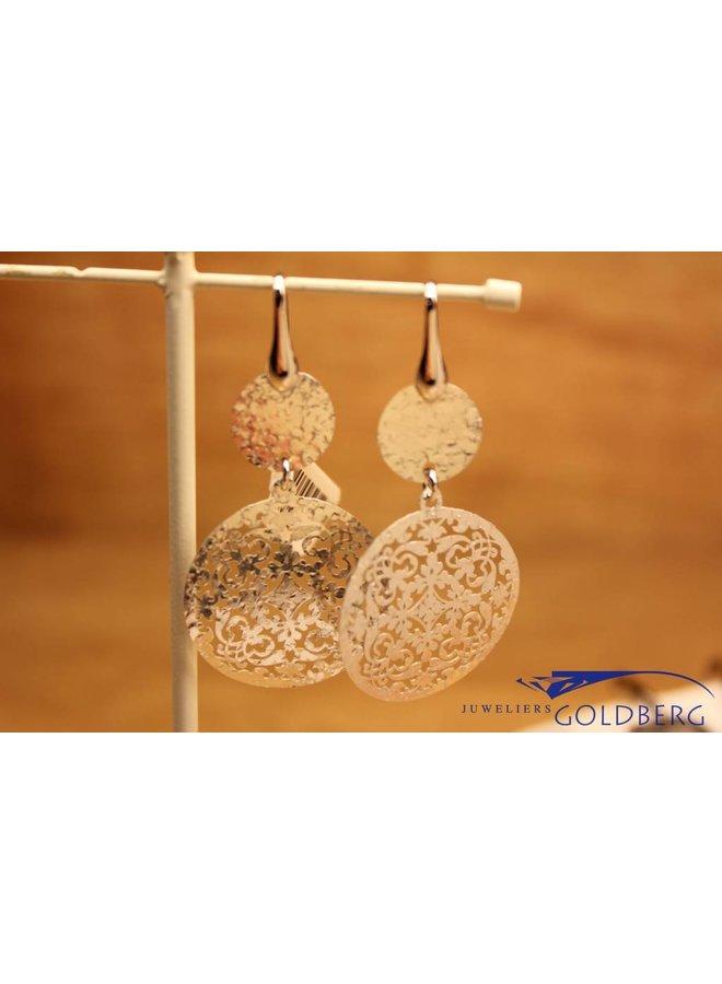 Zilveren hangende oorbellen
