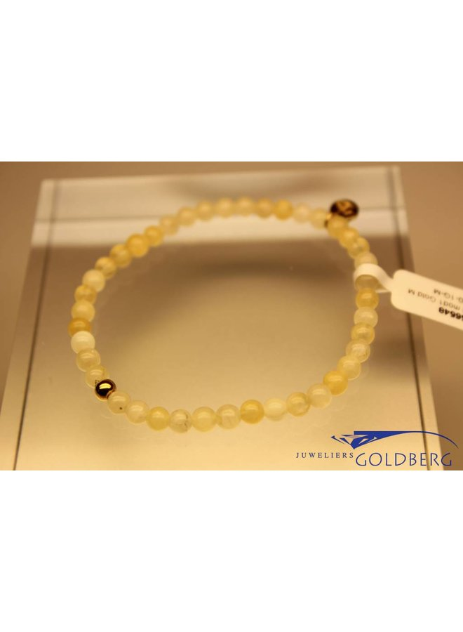 MAS bracelet calcite gold model 1 M