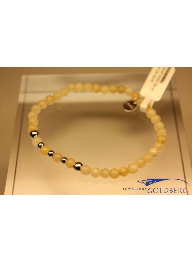 MAS bracelet calcite silver model 2 M