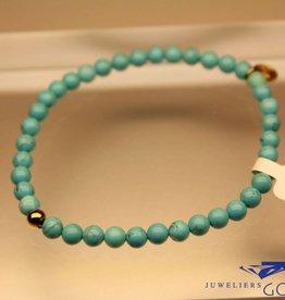 MAS Jewelz MAS bracelet turquoise gold model 1 M