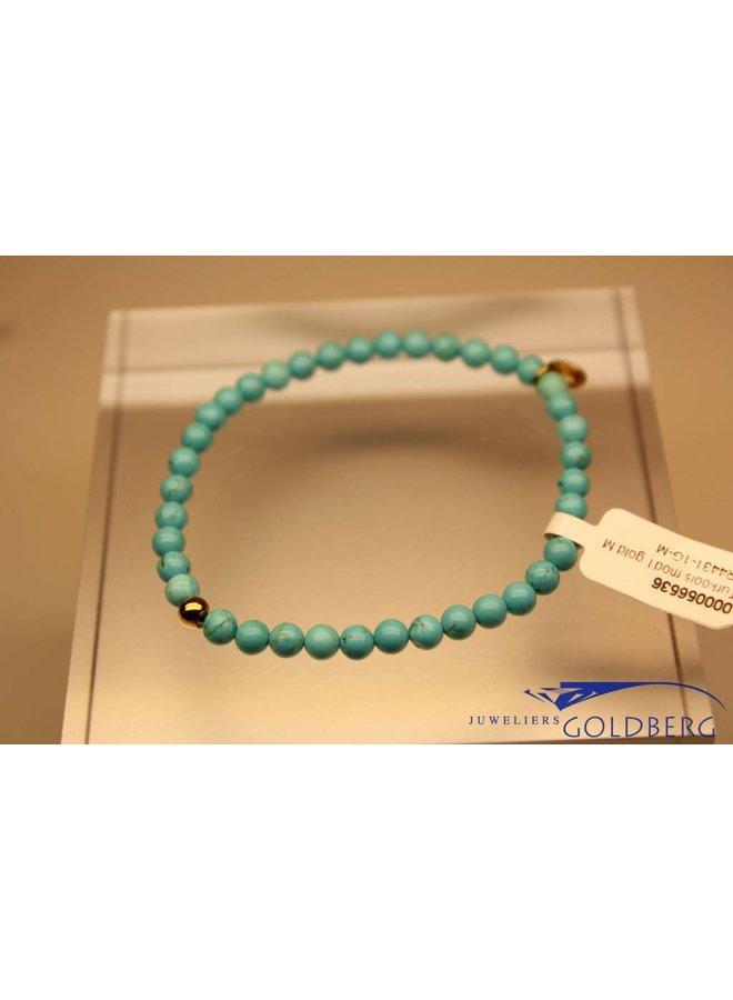 MAS bracelet turquoise gold model 1 M