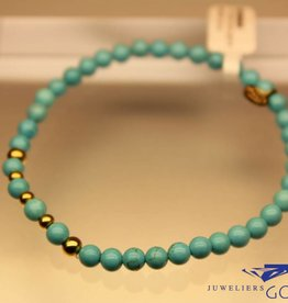 MAS Jewelz MAS bracelet turquoise gold model 2 M
