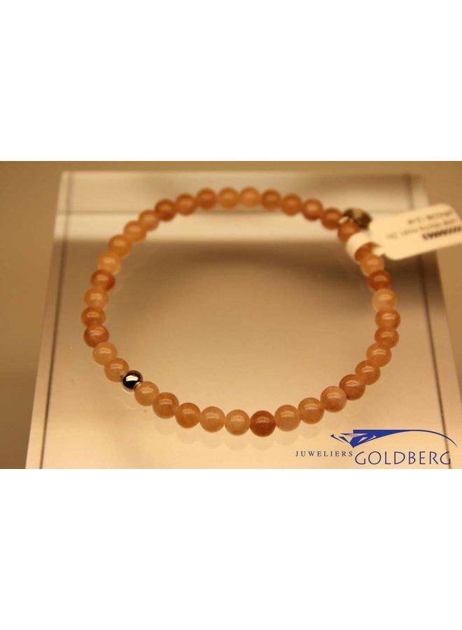 MAS bracelet Jade Mocha silver model 1 M
