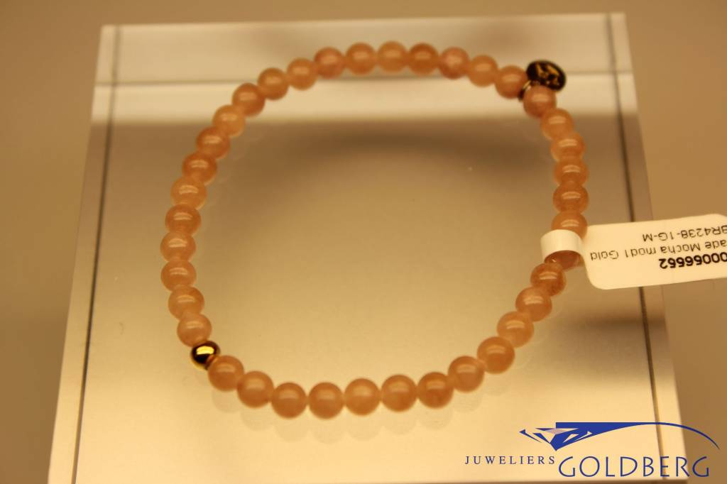 MAS Jewelz MAS armbandje Jade Mocha goud model 1 M