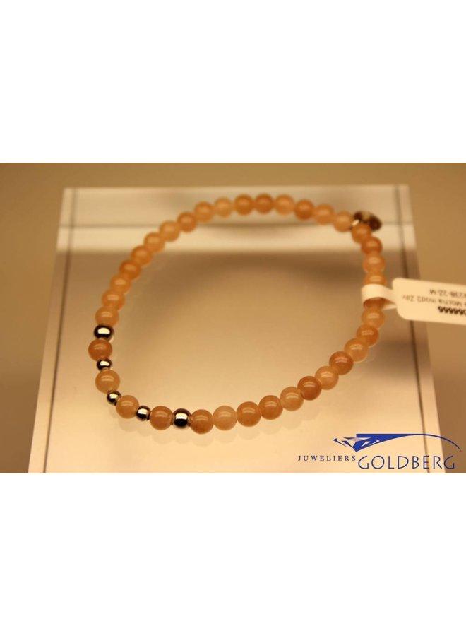 MAS bracelet Jade Mocha silver model 2 M