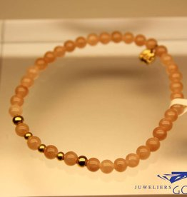 MAS Jewelz MAS armbandje Jade Mocha goud model 2 M
