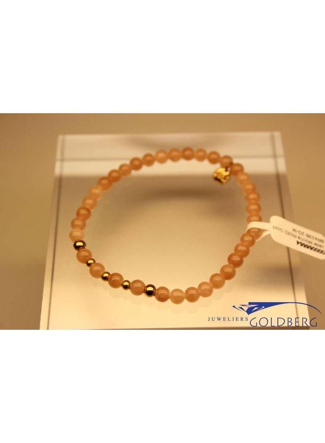 MAS armbandje Jade Mocha goud model 2 M