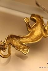 Vintage 14k gouden panter hanger 60mm