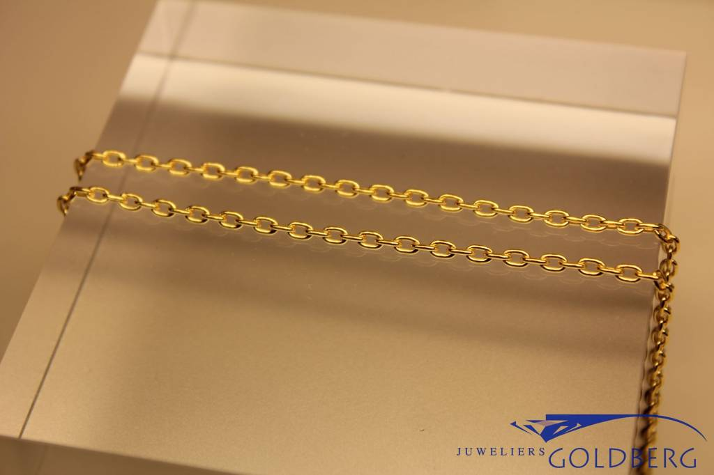 """gold plated silver """"anchor chain"""" necklace 2mm"""