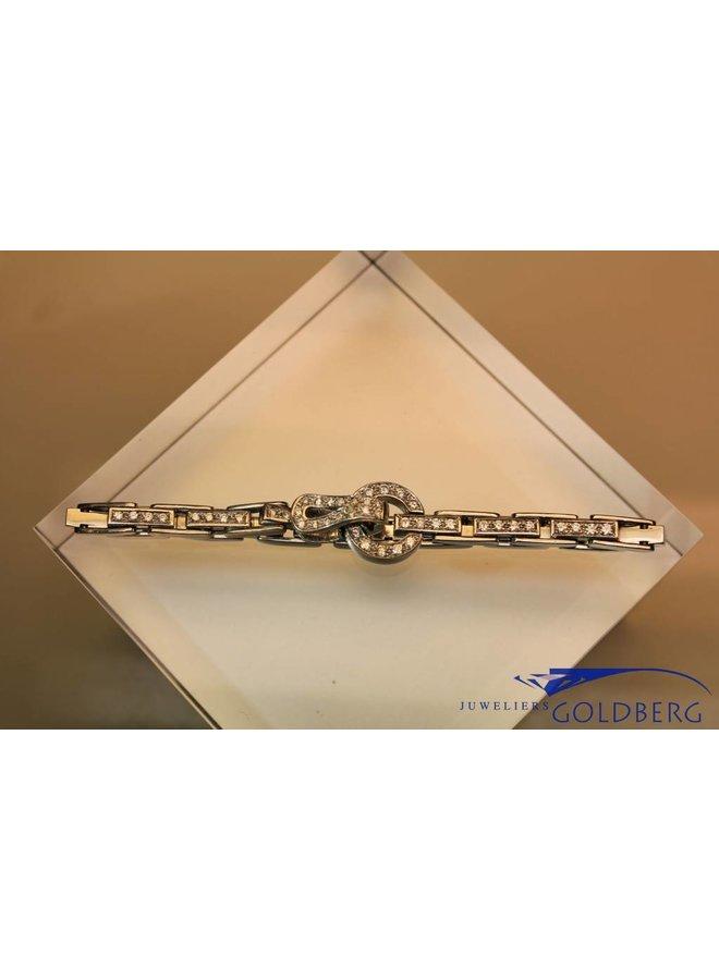 18k witgouden armband met 1.49ct aan briljant