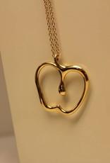 Vintage 18k gouden Tiffany & Co, Peretti collier met appel hanger