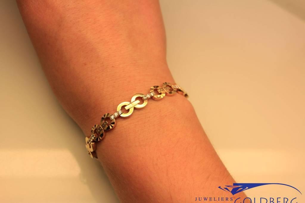 14k gouden armband met zirconia
