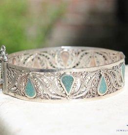 Zilveren vintage armband Marokkaans