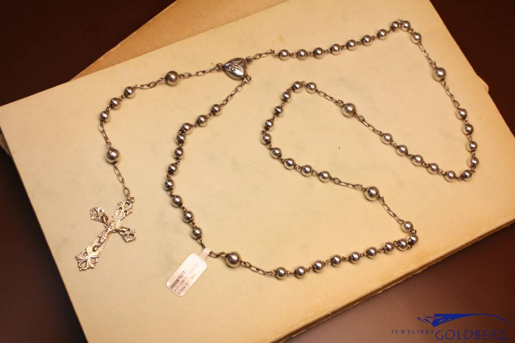 Antique silver rosary 1924-1947