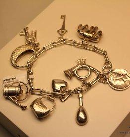 Zilveren bedelarmband 10 bedels