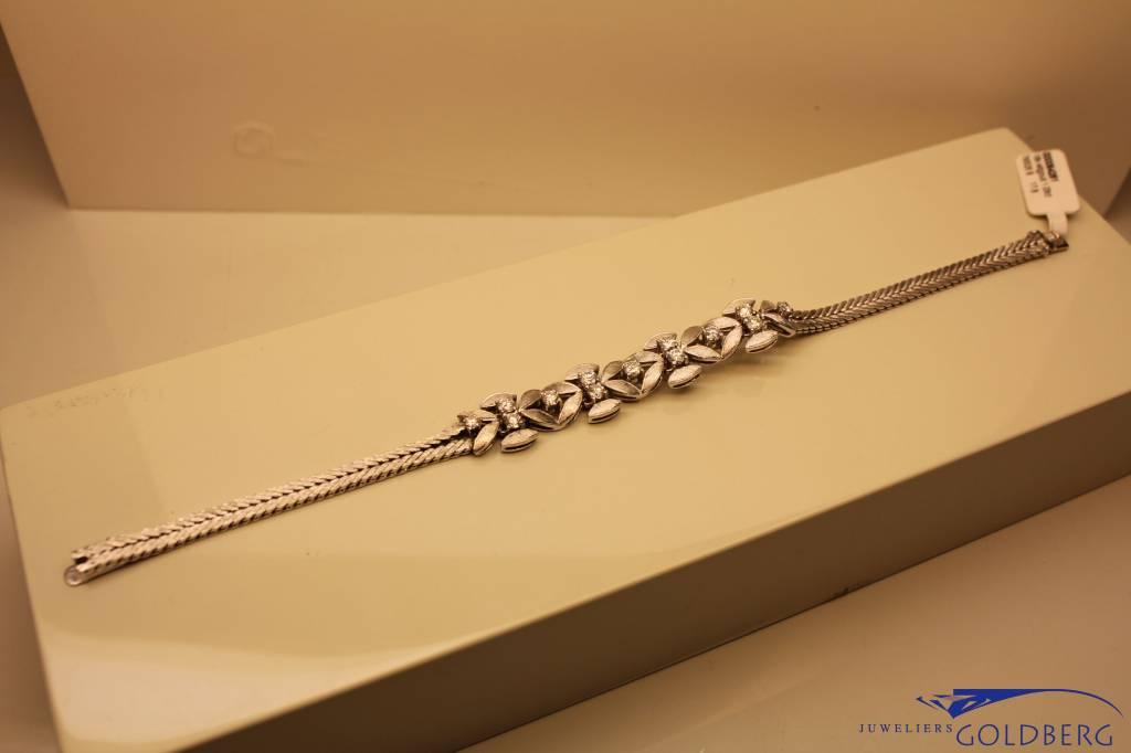 vintage white gold bracelet 1.09ct diamond