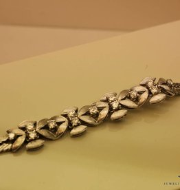 vintage white gold bracelet 1.09ct diamond