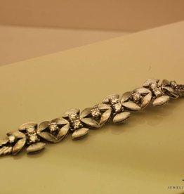 Witgouden armband met 1.09ct briljant