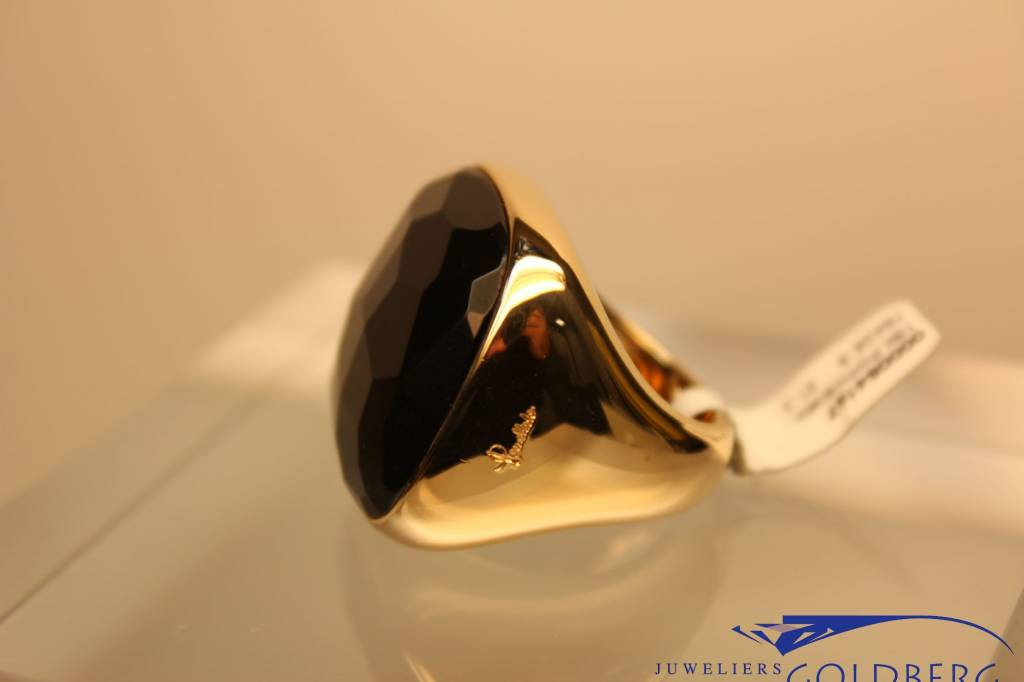 18k gouden Pomellato vierkante git ring uit de Victoria collection