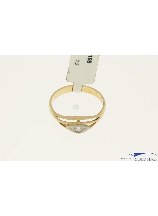 vintage rose gouden ring zirconia