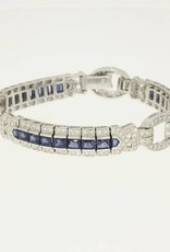 white gold bracelet with 2.40ct diamond and sapphires