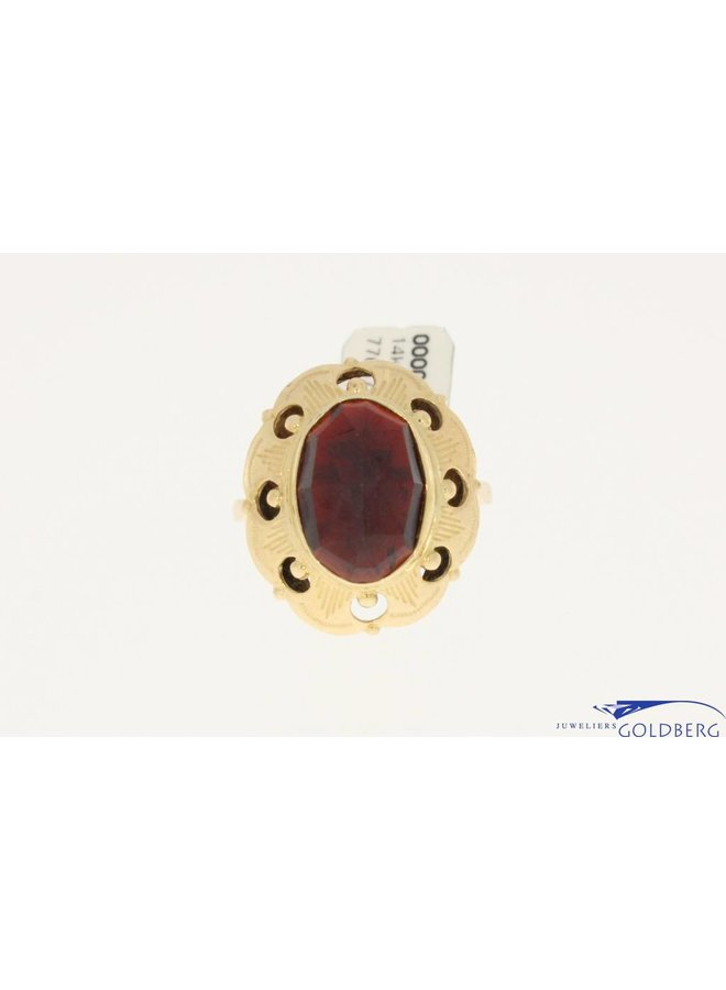 vintage 14k golden ring garnet